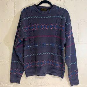 VTG Eddie Bauer Oversize Cotton Cable Knit Sweater